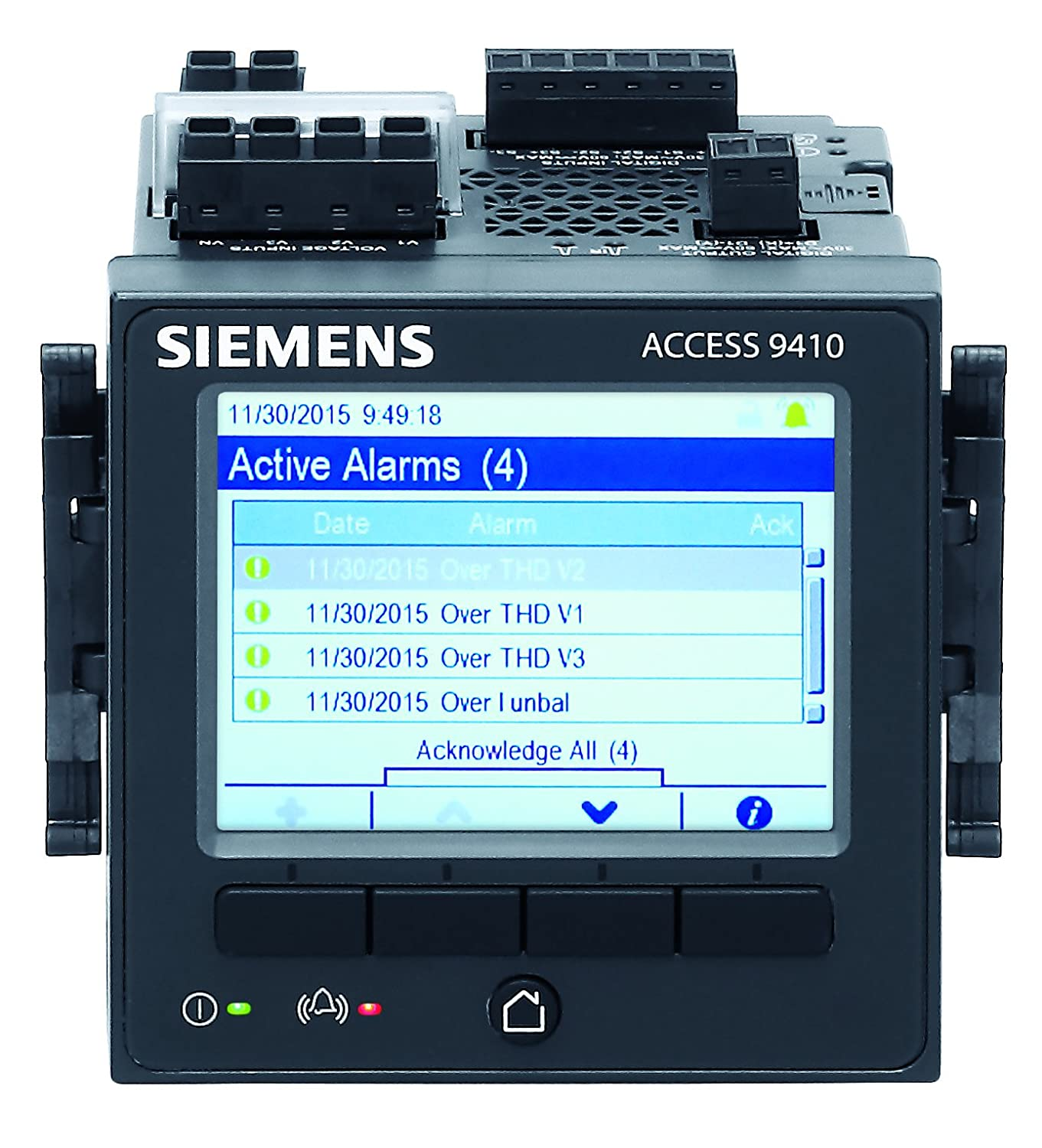 Siemens 9410 Power Quality Meter with Integrated Color ...