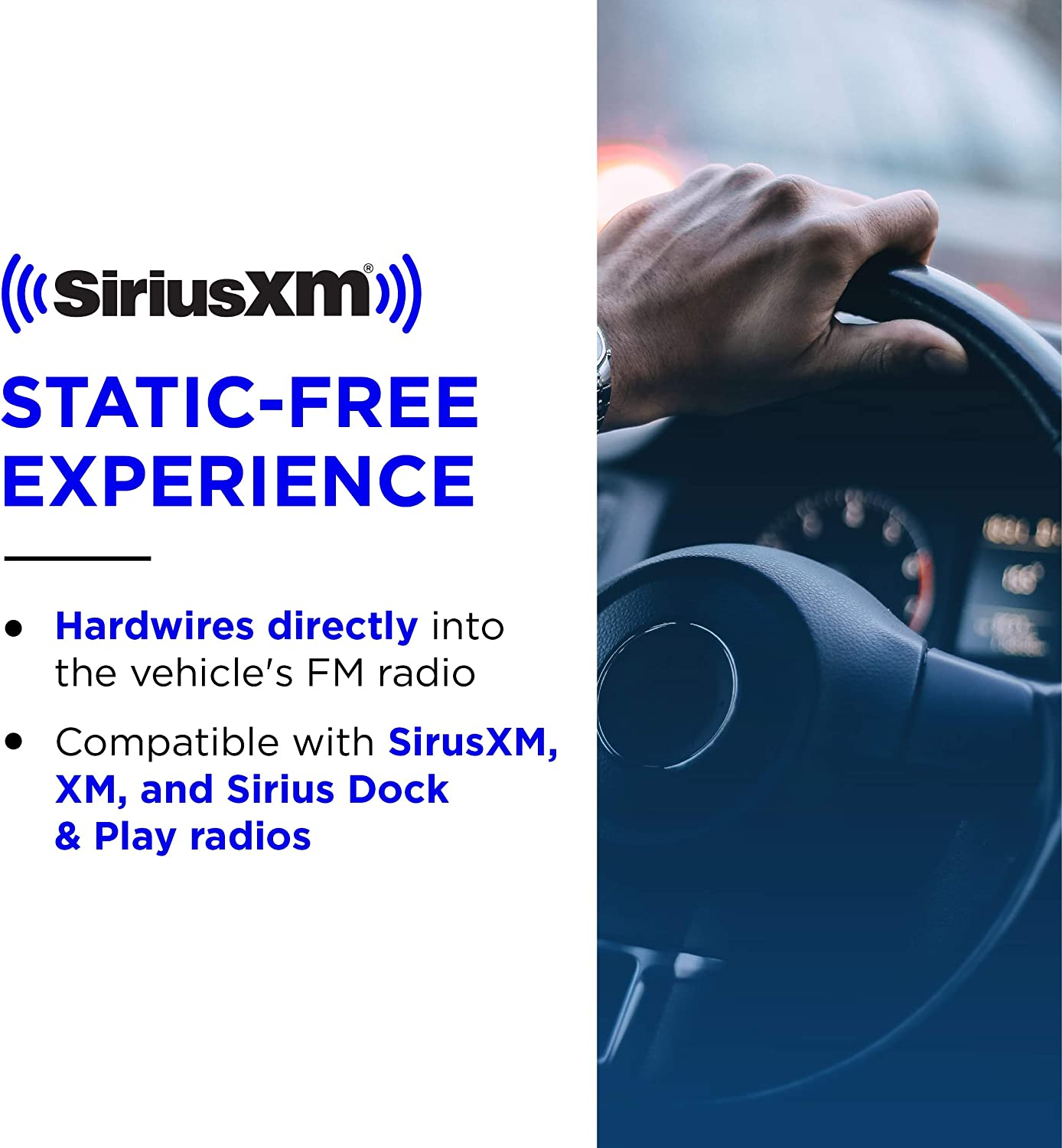 Get 3 Months Free Service with Subscription /& FMDA25 Direct Adapter SiriusXM SXEZR1V1 Onyx EZR Satellite Radio with Vehicle Kit