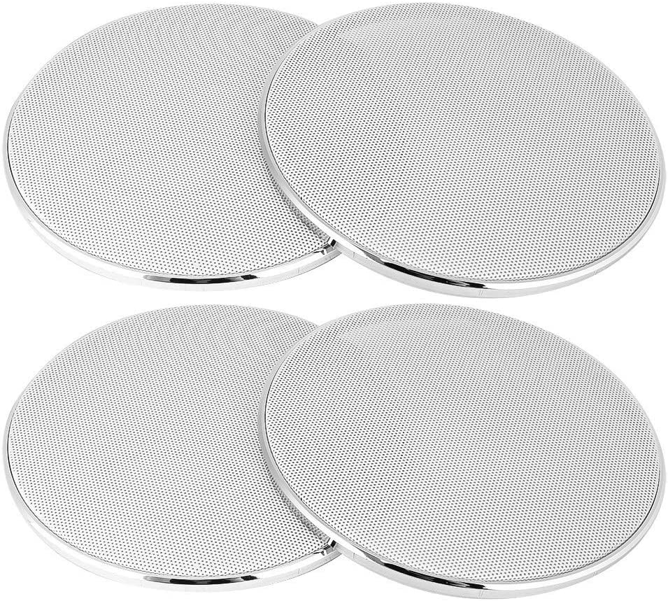 Senyar Car Accessories 2PCS 6.5 Inch Metal Car Speaker Net Cover Mesh Enclosure for Cars Modification