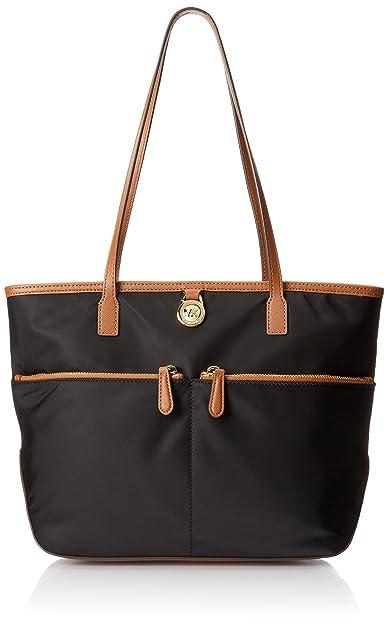 597144349708 Michael Kors Kempton Nylon Medium Pocket Tote Black: Amazon.co.uk: Shoes &  Bags