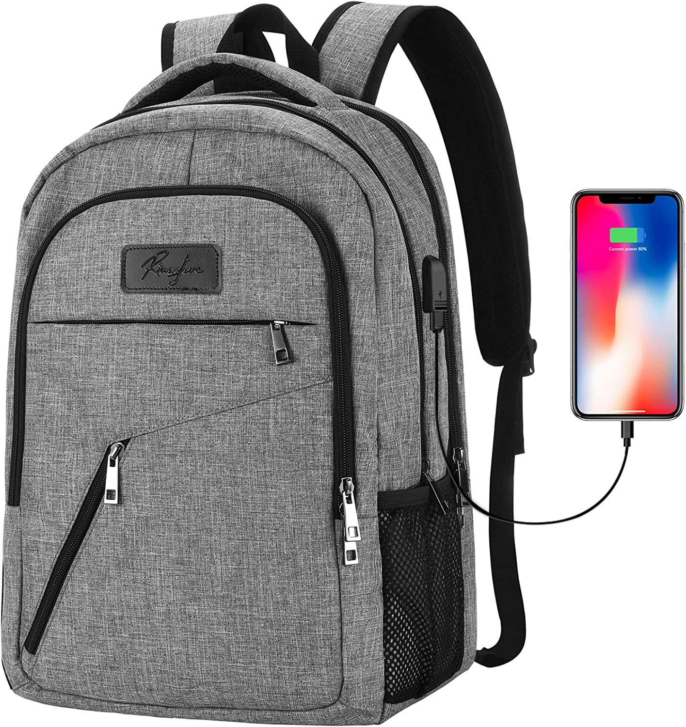 Travel Laptop Backpack with USB Charging Port for Men Women
