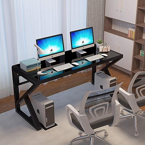IPKIG Tempered Glass Computer Desk