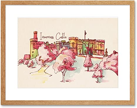Amazon Com Wee Blue Coo Inverness Castle Highland Scotland Scottish Watercolour Framed Art Print Posters Prints