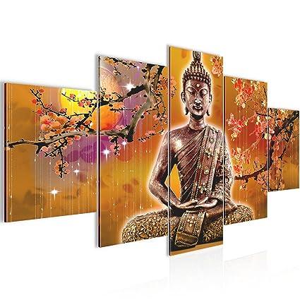 Quadro Buddha Feng Shui Decorazione Murale 200 x 100 cm vello ...