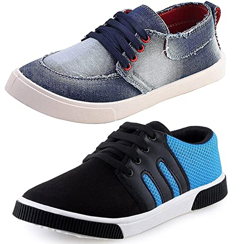 3be7a5092ae Birde Men s Combo Pack of 2 Canvas Causal Designer Loafer Shoes for Men and  Boys  Buy Online at Low Prices in India - Amazon.in