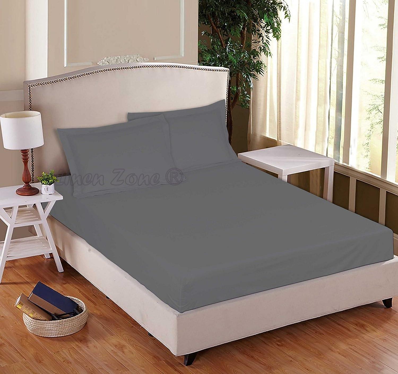 S/ábana bajera de polialgod/ón de f/ácil cuidado. azul celeste House Wife Pillow Cases Pair Linen Zone