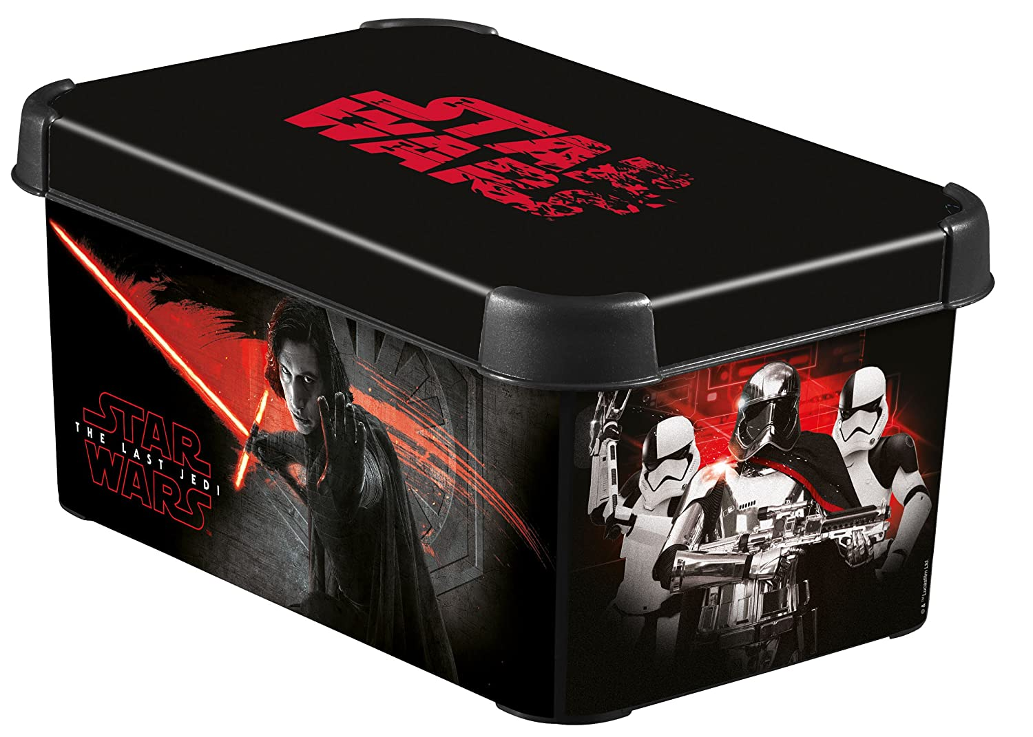 Curver 235964 Decorative Stockholm Box Star Wars s-décor 8, Plastic, black, 29.5 x 19.3 x 13.8 cm