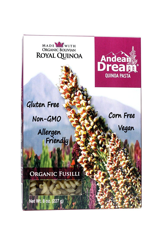 Andean Dream Fusilli Quinoa Pasta Gluten Free (3x8 Oz)