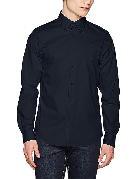 Core Shirt L/s, Camisa para Hombre, Multicolor (Dk Naval Blue/White Ao 8794), X-Large G-Star