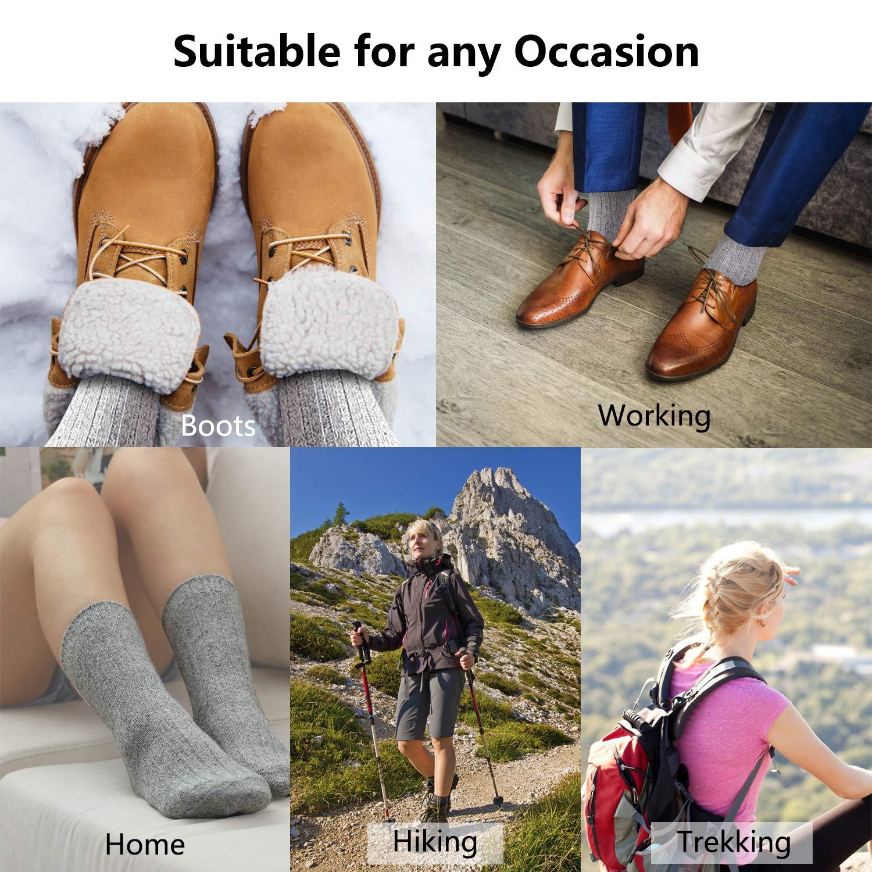 Amazon.com: 5 pares de calcetines de lana para mujer ...