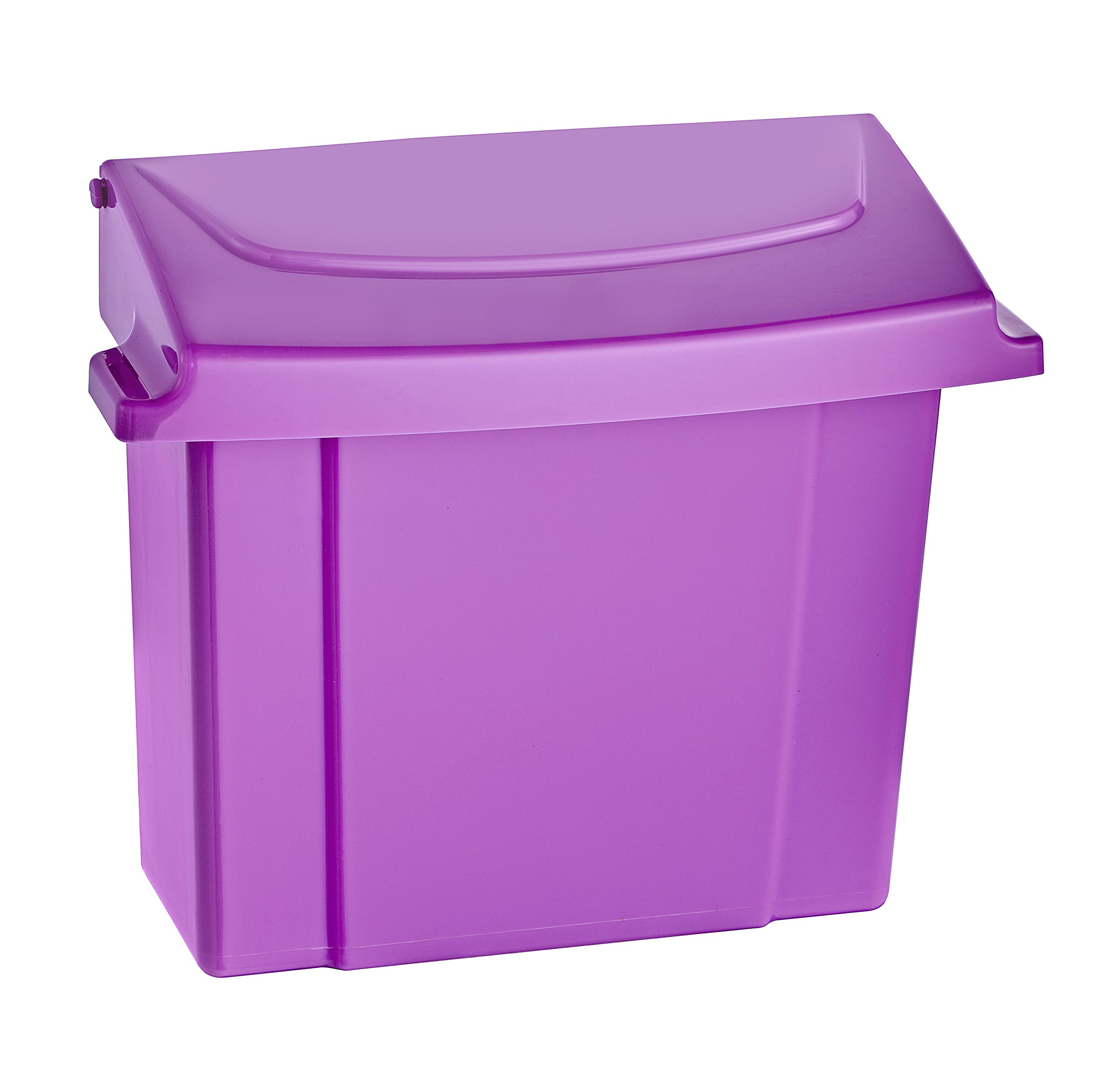 Alpine Sanitary Napkins Receptacle - Feminine Hygiene Products, Tampon & Waste Disposal Container - Durable ABS Plastic - Seals Tightly & Traps Odors -Easy Installation Hardware Included (Purple) by Alpine