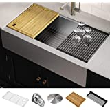 "Kraus KWF410-36 KORE Kitchen Sink Single Bowl, 36 Inch, 36""- Workstation"