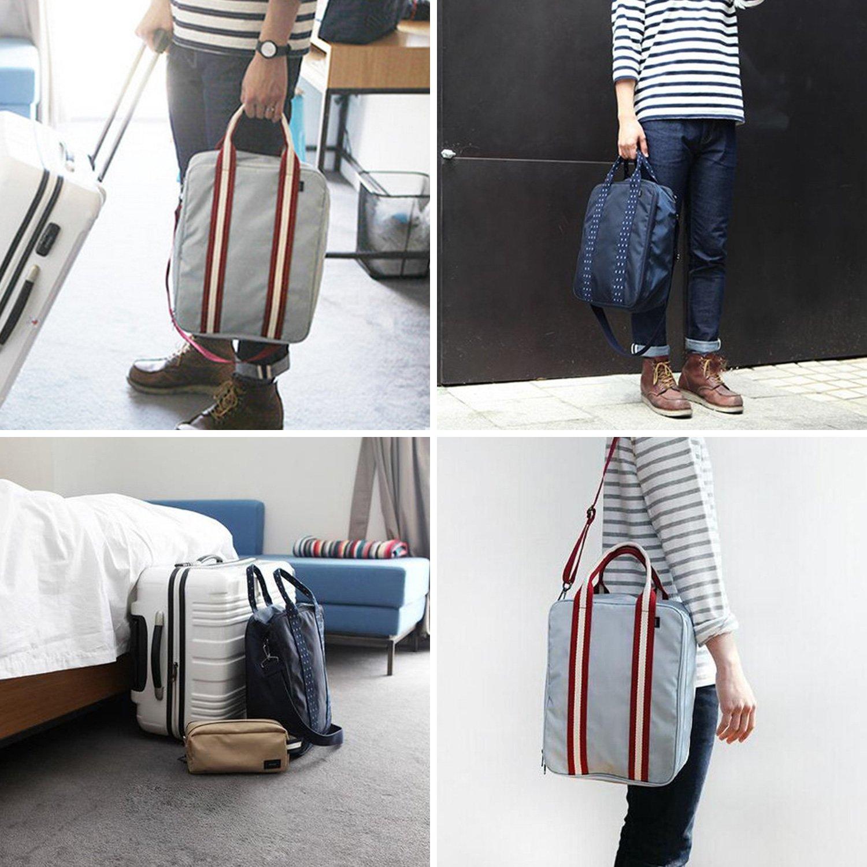 Travel Duffel Bag Carry On Luggage Shoulder Tote Bag 3 Way Crossbody Bag Grey