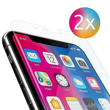 Apple IPhone X PanzerGlas Folie 9H 2 Stuck Prazise Ausschnitte