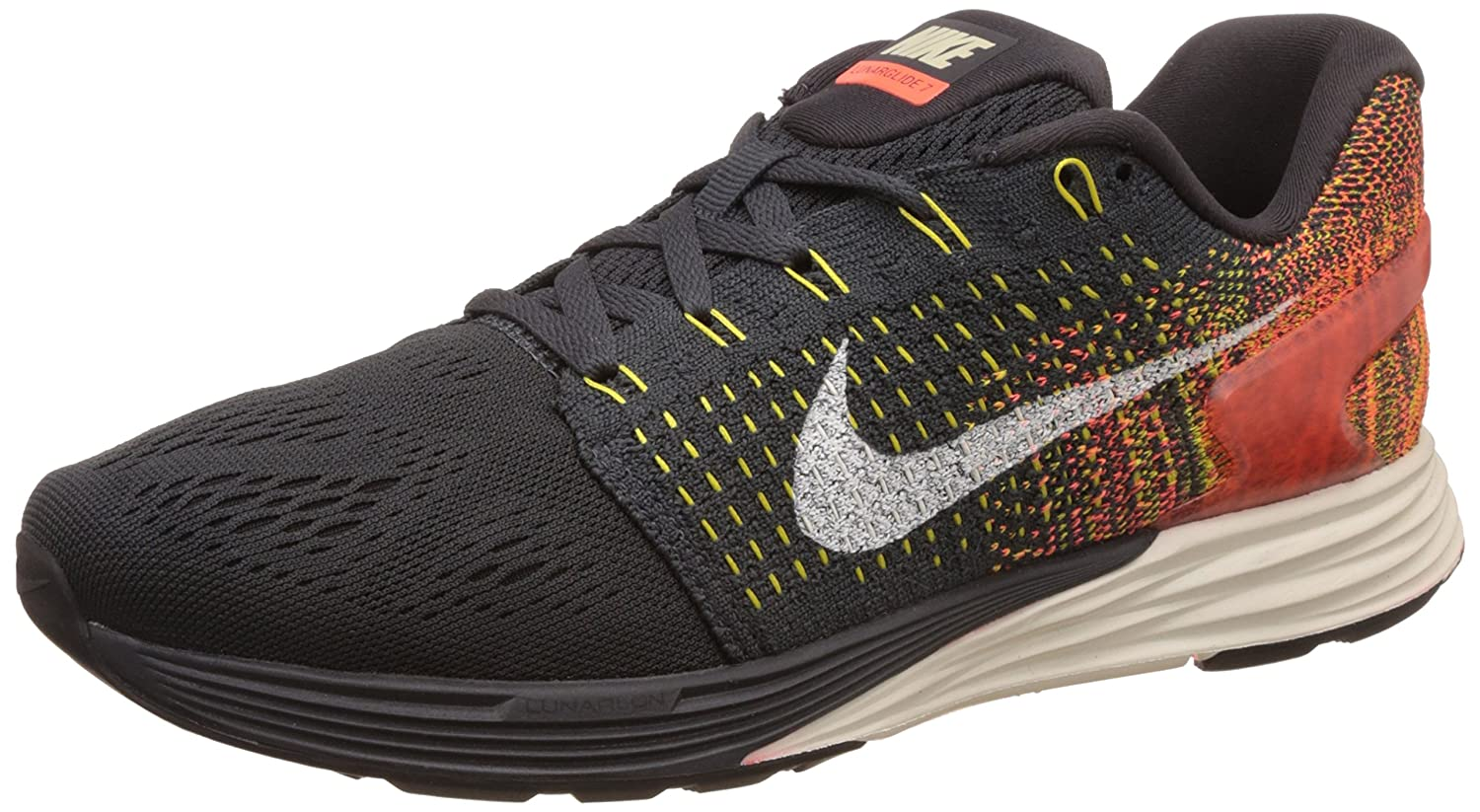 check out d85c3 389a3 Nike Women s Wmns Lunarglide 7, ANTHRACITE SAIL-TR YELLOW-HYPER ORANGE, 7.5  US  Amazon.ca  Shoes   Handbags