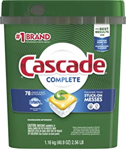 Cascade Actionpacs Dishwasher Detergent, Lemon, 78 Count