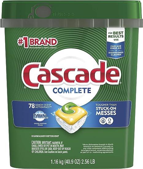 Amazon.com: Cascade Platinum ActionPacs detergente para ...
