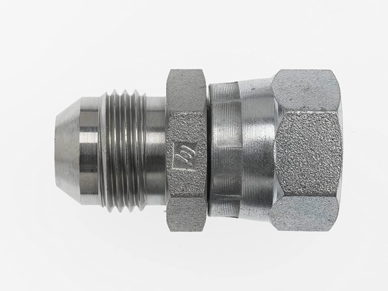 1-1//16-12 Male JIC x 3//4-14 Female BSPP Swivel 1-1//16-12 Male JIC x 3//4-14 Female BSPP Swivel Inc. Brennan Industries 7004-12-12 Steel Straight Conversion Adapter Fitting
