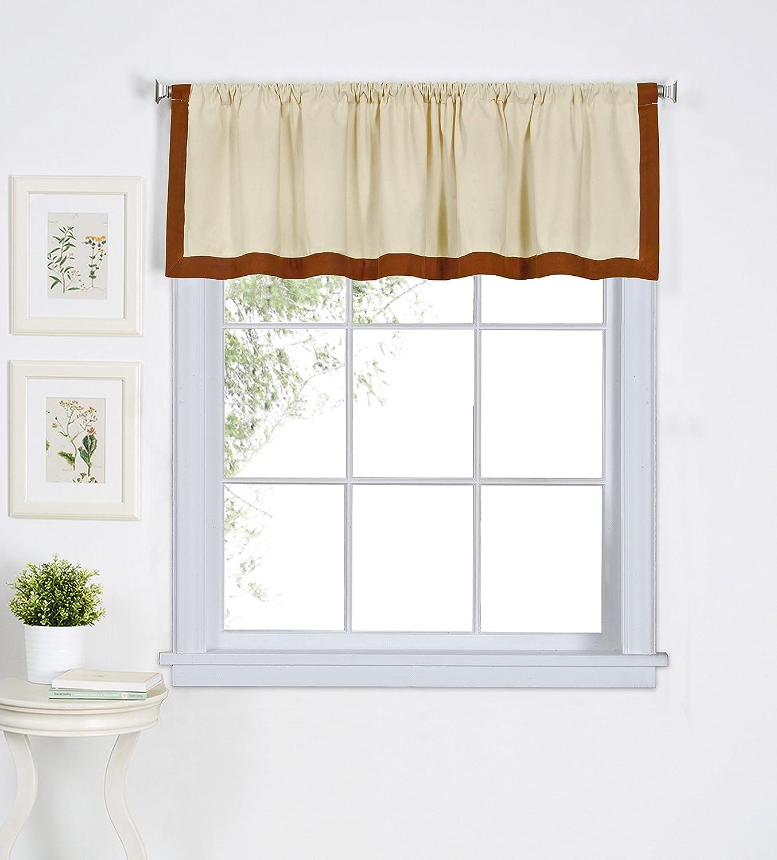 "Elrene Home Fashions 26865775549 Window Valance, 60"" W x 15"" L (1, Spice"