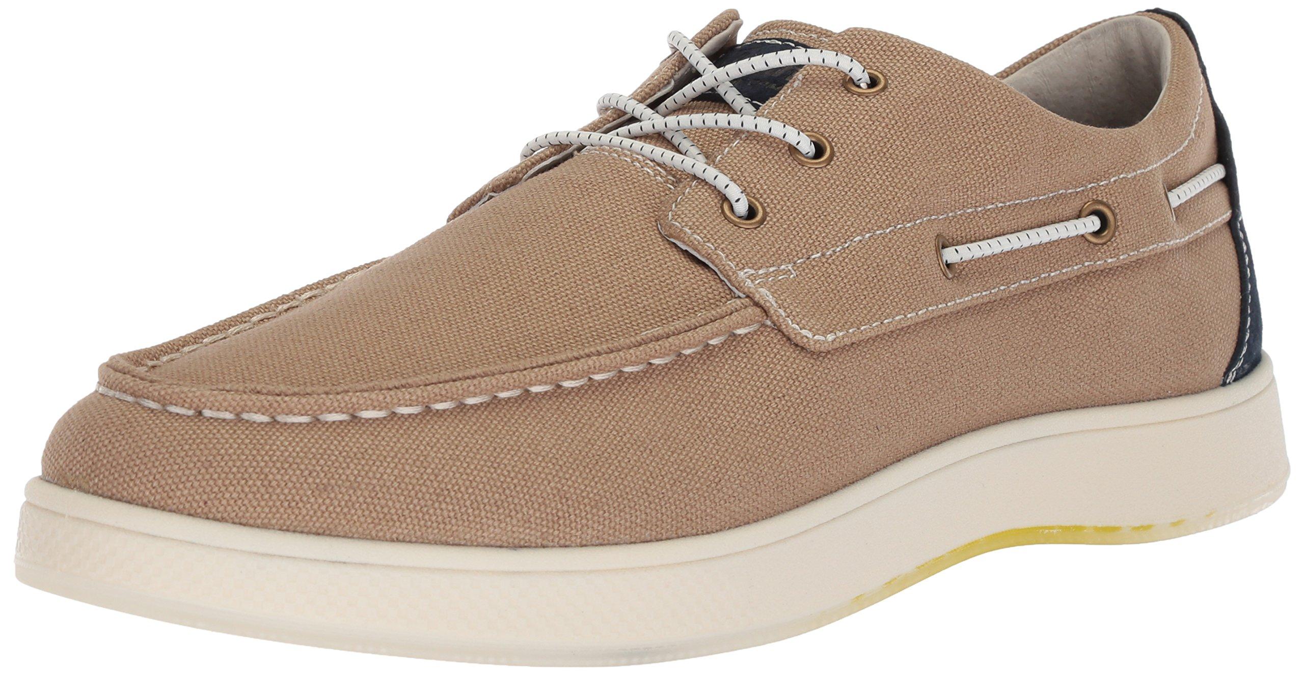 Florsheim Men's Edge Boat Shoe Khaki, 10.5 Medium