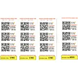 Dynotag Web/GPS Enabled QR Code Smart Tags - Ready to use, 12 UNIQUE Sticker Set (1 sticker each of 12 dynotags)