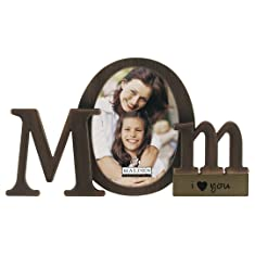 Malden Bronze Script Mom Picture Frame with One Opening
