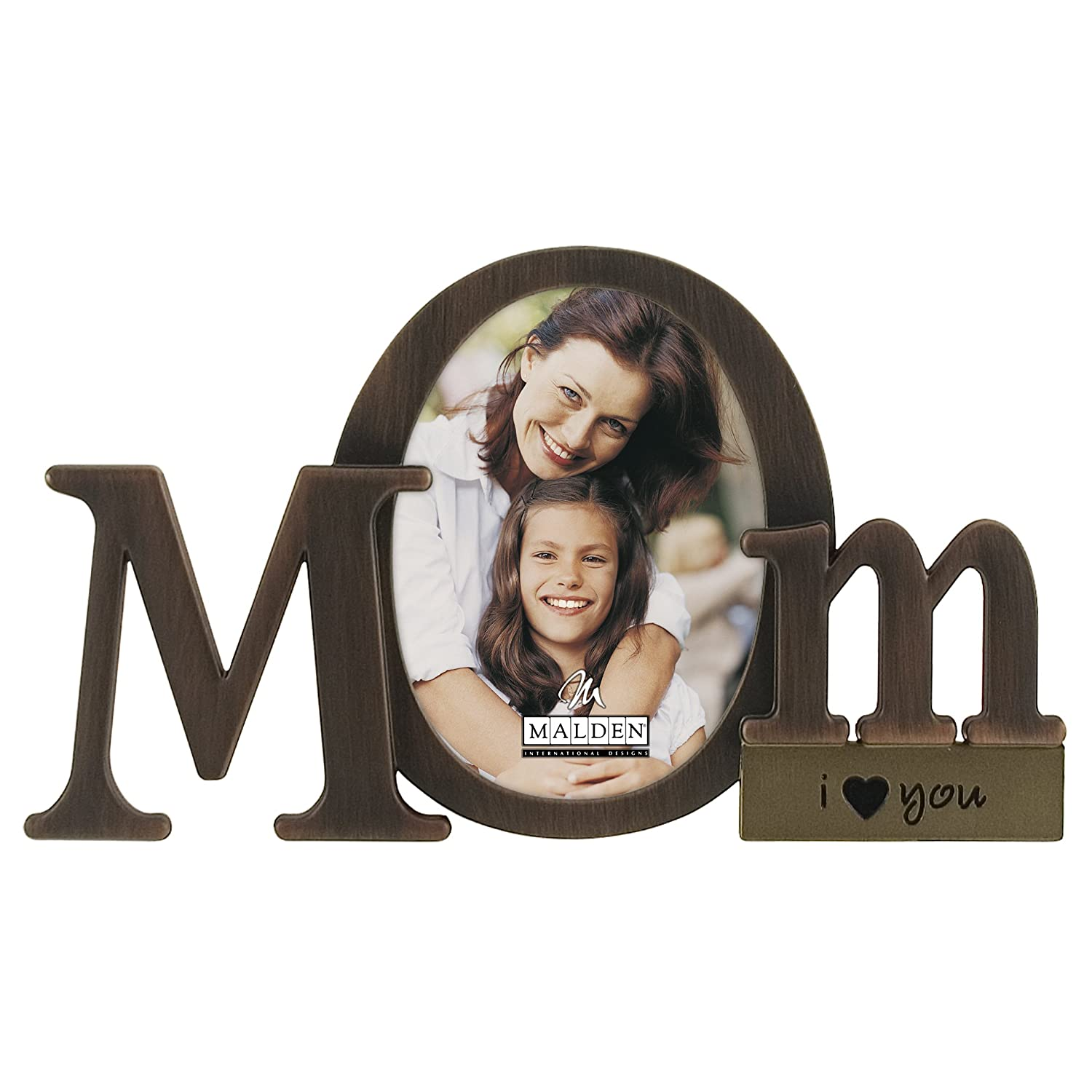 Malden International Designs Bronze Script Mom Picture Frame Bronze