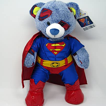Build A Bear Superman Bear in retired Superman Costume with Red Rubber Boots and Superman Voice & Amazon.com: Build A Bear Superman Bear in retired Superman Costume ...