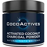 Teeth Whitening Activated Charcoal Powder - by CocoActives - Organic Coconut Charcoal, All Natural Teeth Whitener - Removes Stains, Fluoride Free, Non-GMO, Made in USA - Mint Flavor