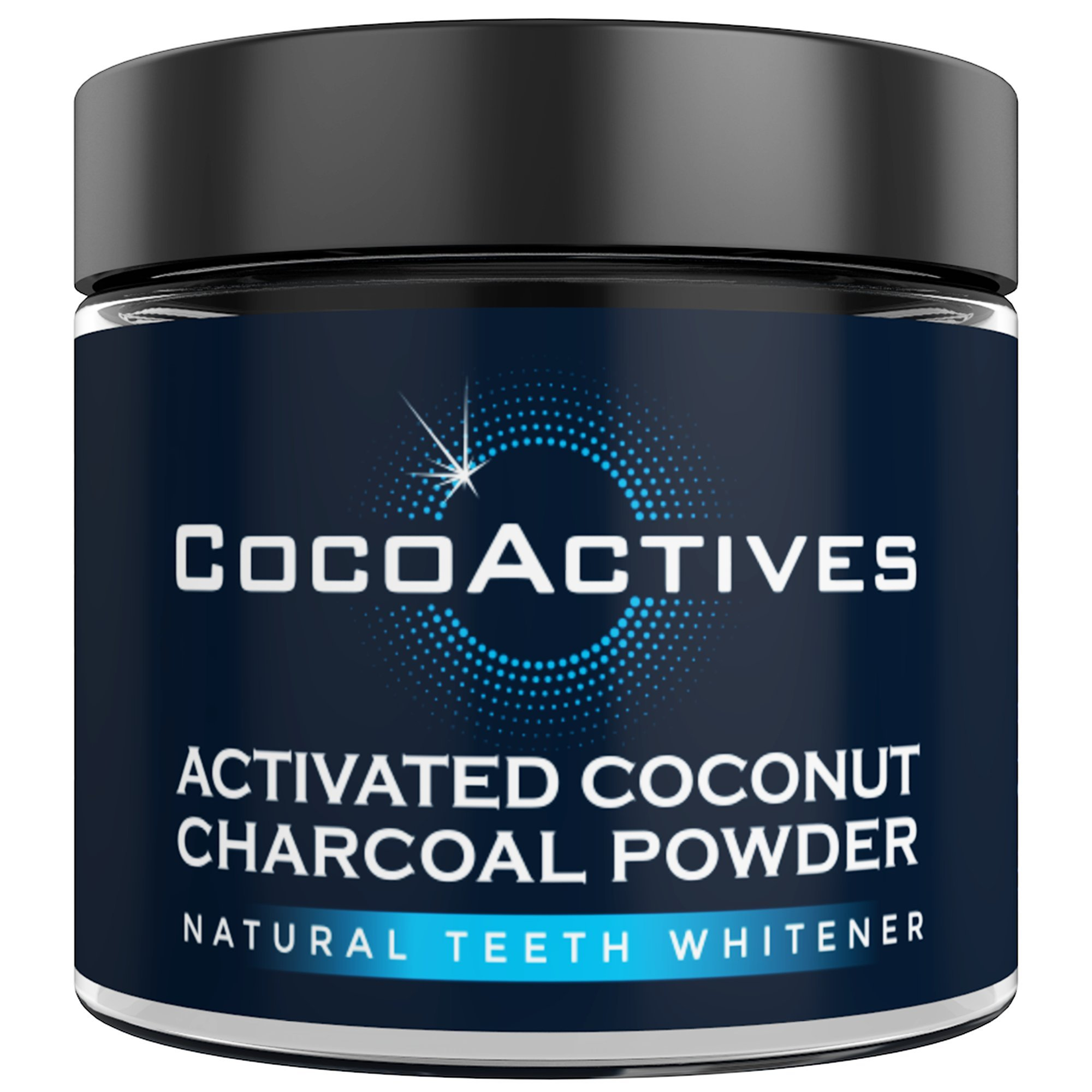 Stocking Stuffers - Activated Charcoal Teeth Whitening Powder - by CocoActives - Tooth Powder, Organic Coconut Charcoal Powder - Natural Teeth Whitening & Tooth Polish- Made in USA, Removes Stains