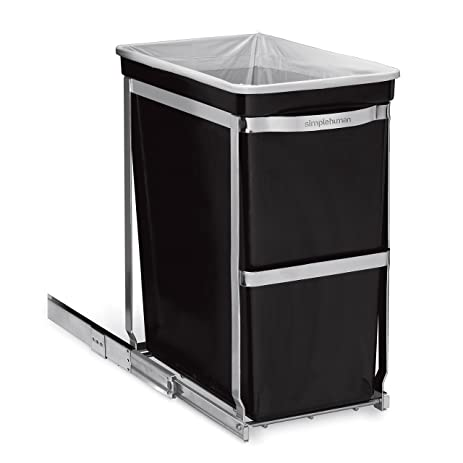 simplehuman pullout trash can commercial grade 30 l