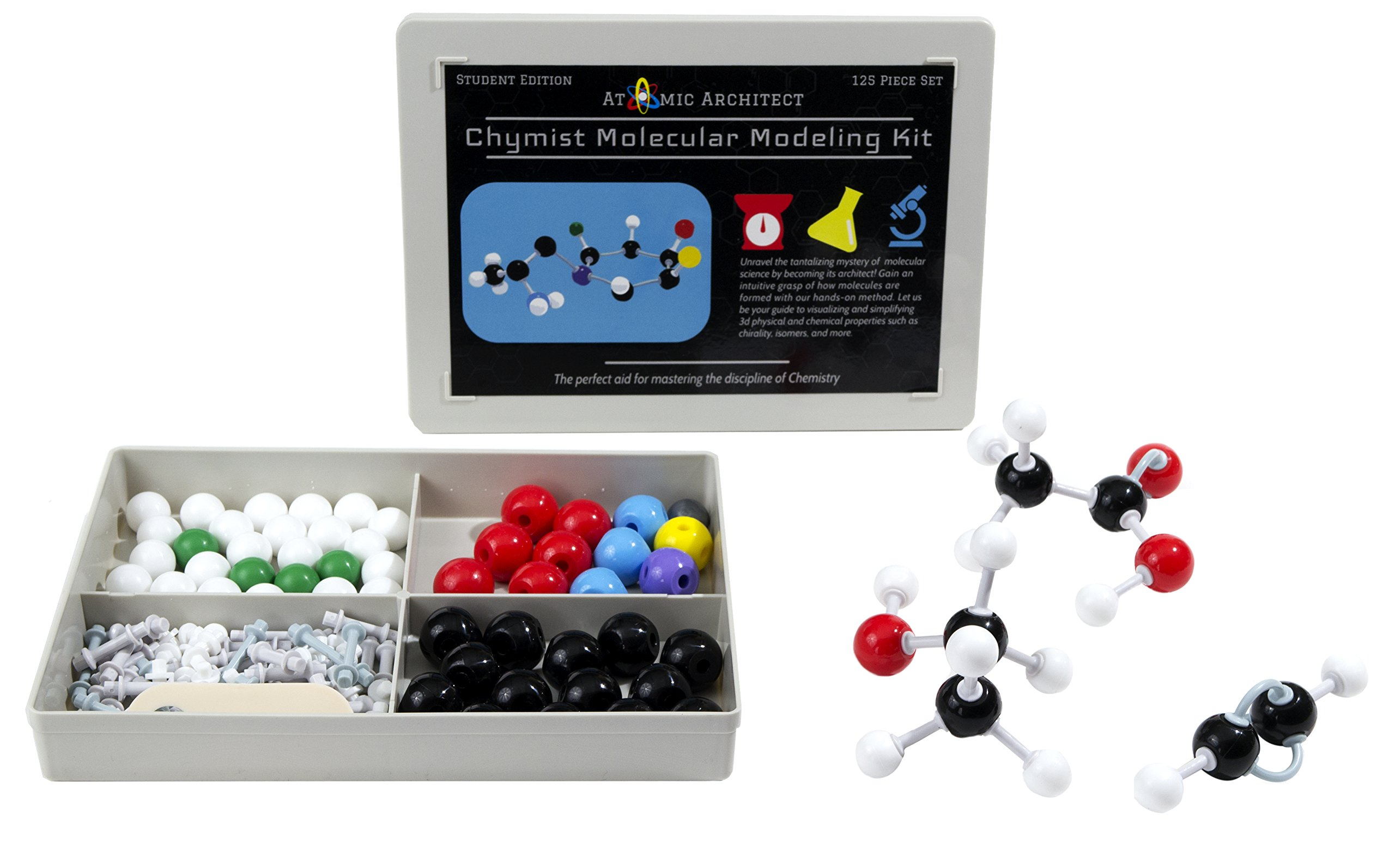 Bonds - Student or Teacher pack with Atoms 122 Pieces Organic Chemistry Molecular Model Kit and Remover