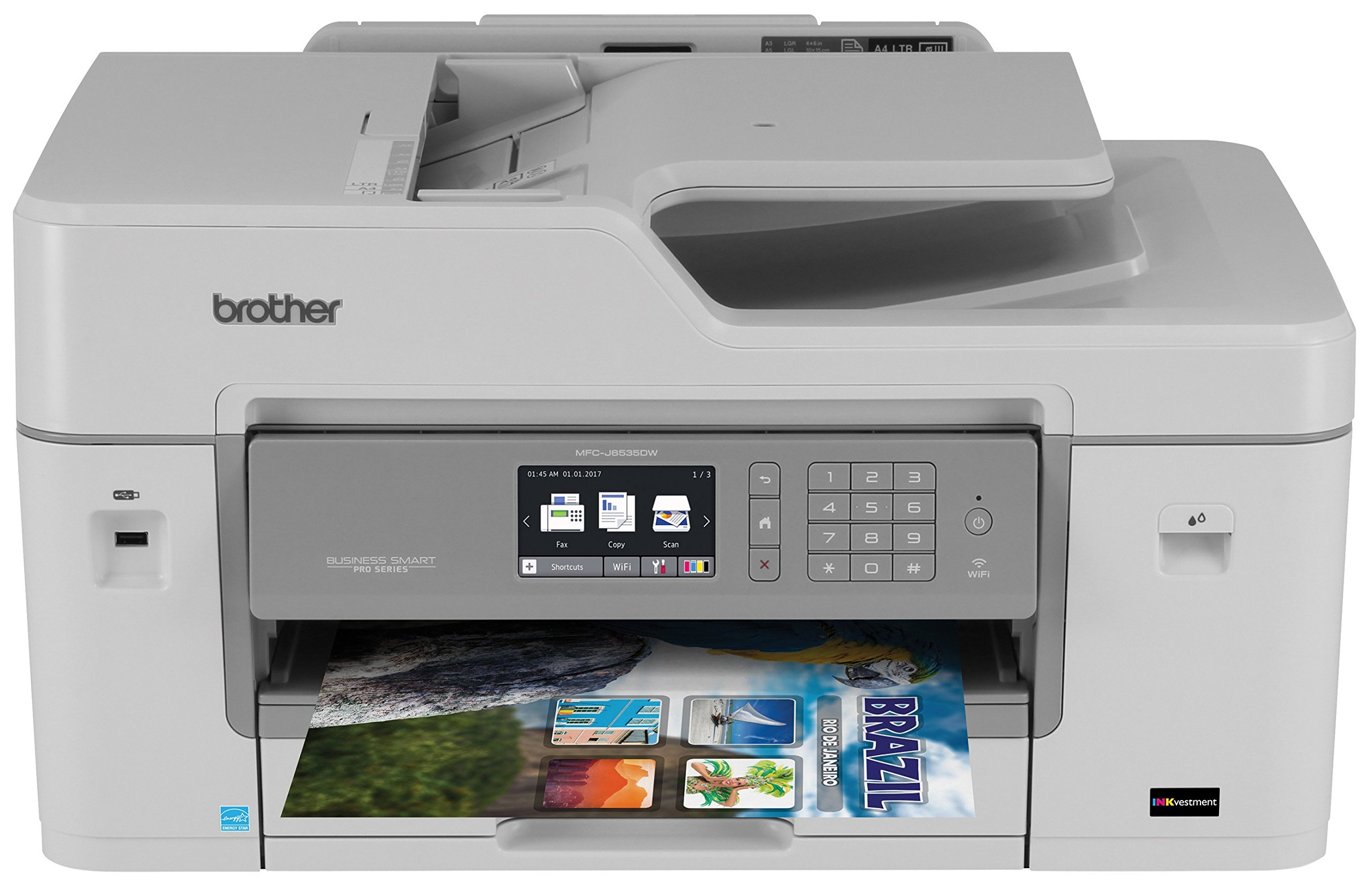 Brother Printer RMFCJ6535DW Refurbished Business Smart Pro with INKvestment Cartridges