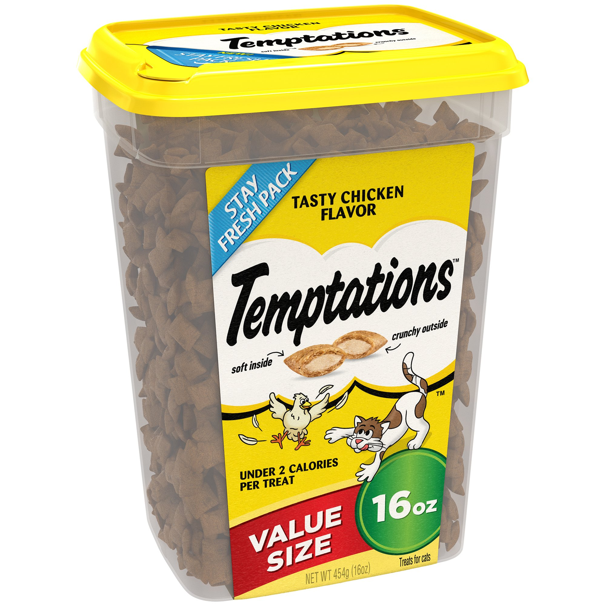 Temptations Classic Treats For Cats Tasty Chicken Flavor 16 Ounces (Pack Of 4) by Temptations