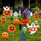 ABTOR Yard Signs for Halloween Decorations Outdoor 7 Pcs Yard Stakes Pumpkin Ghost Monster for Halloween Trick or Treat…