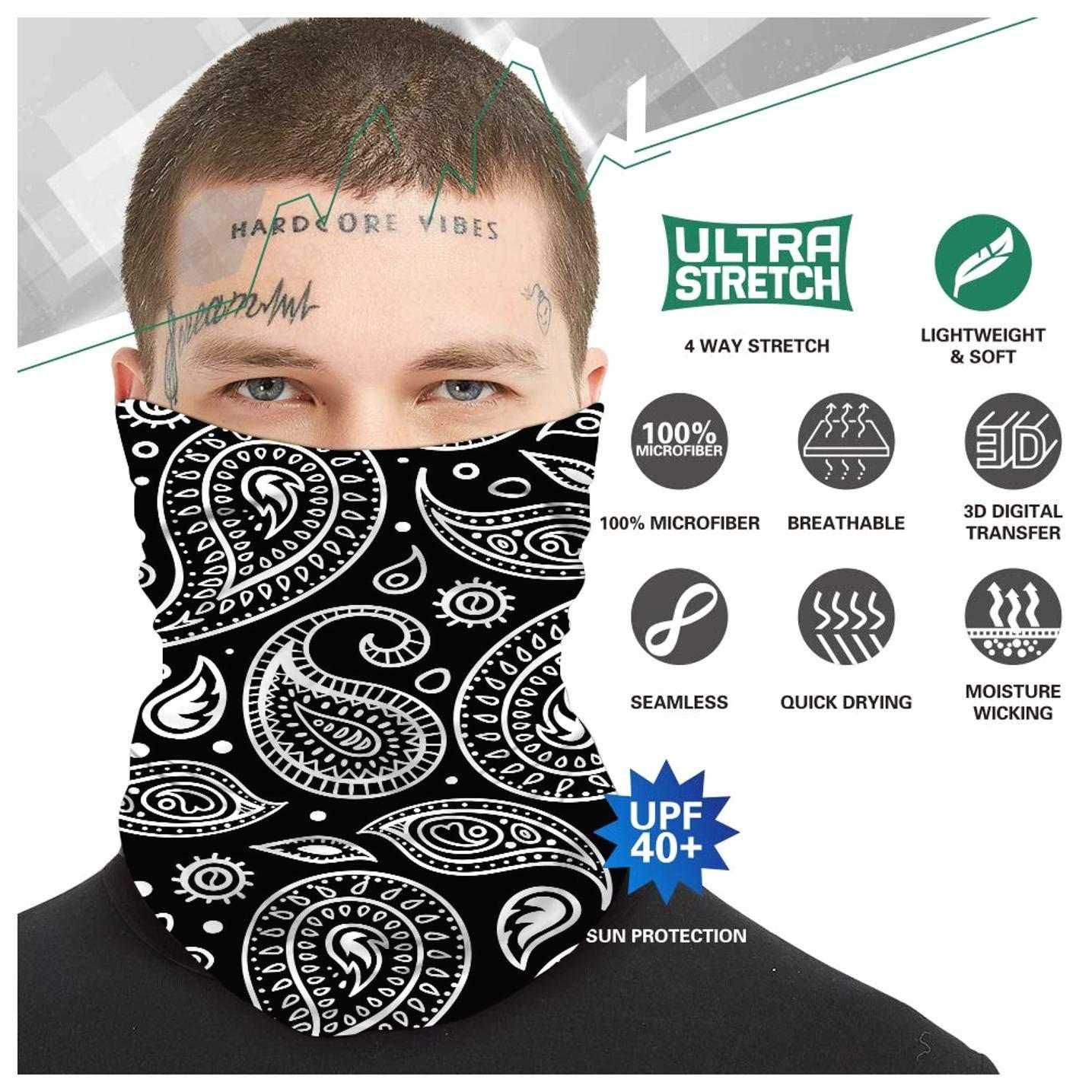 Fiween Deporte Headwear Tubo Diadema Bufanda de m/últiples Funciones del Calentador del Cuello el/ástico para el Yoga Senderismo Motociclismo