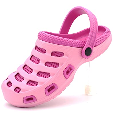 46d53abca9 Women s Clogs Garden Two-Tone Slip-On Lightweight Slippers (5 B(M