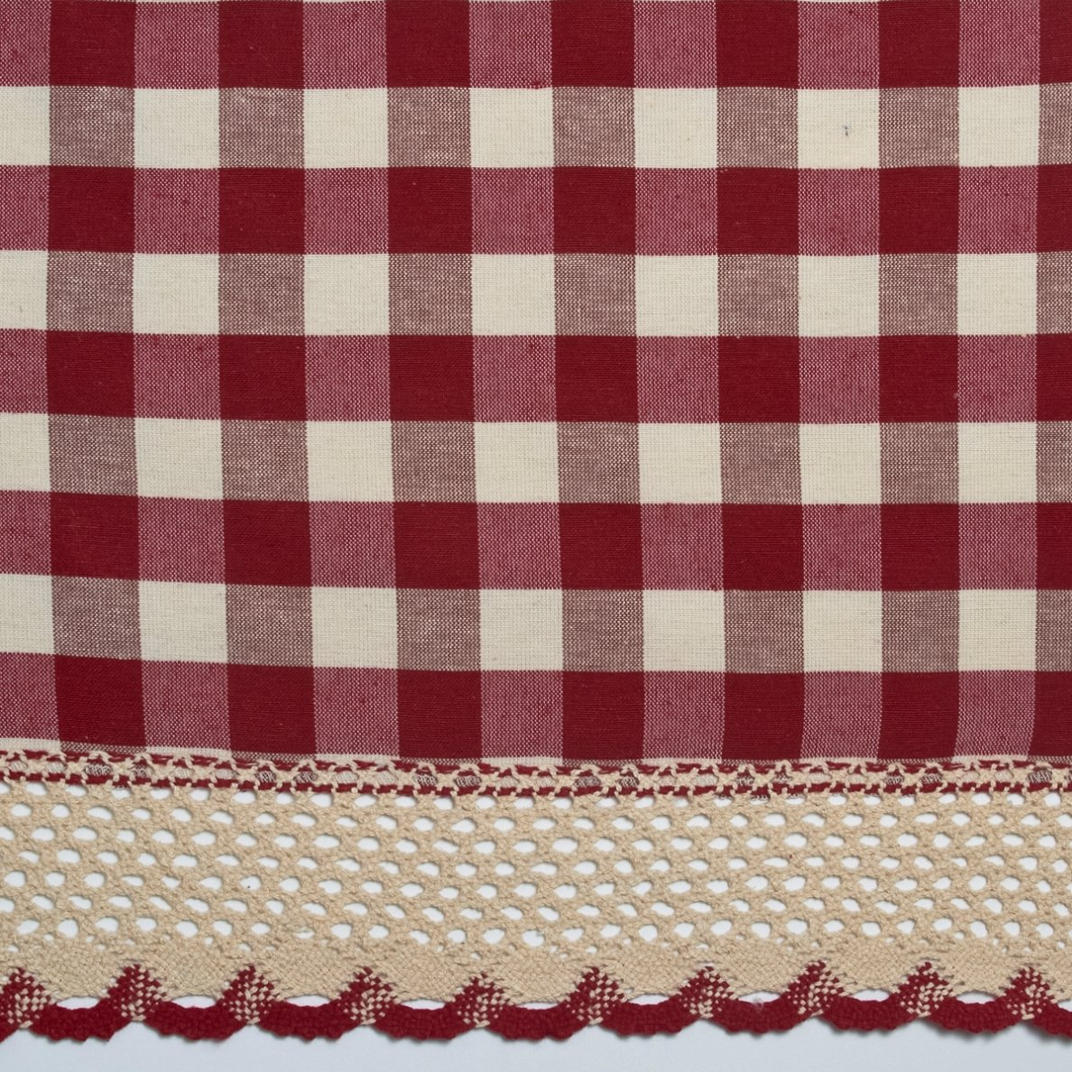 Red gingham curtains - Amazon Com Achim Home Furnishings Buffalo Check Curtain Panel 42 Inch By 84 Inch Burgundy Home Kitchen