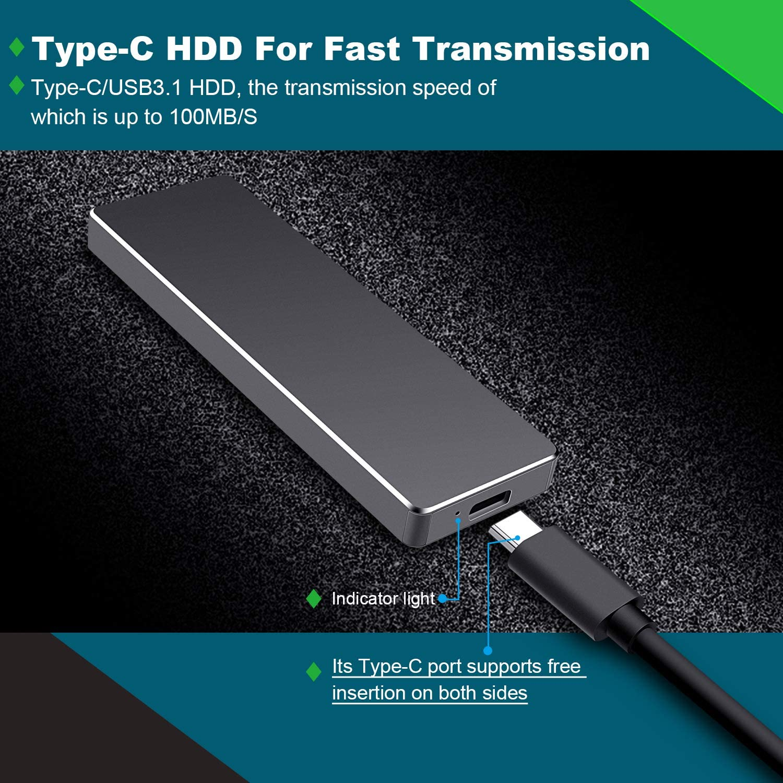 Meiger Disque Dur Externe USB 3.1 Disque Dur Externe pour Mac,PC,Windows 1to, Bleu Apple,Xbox One et PS4