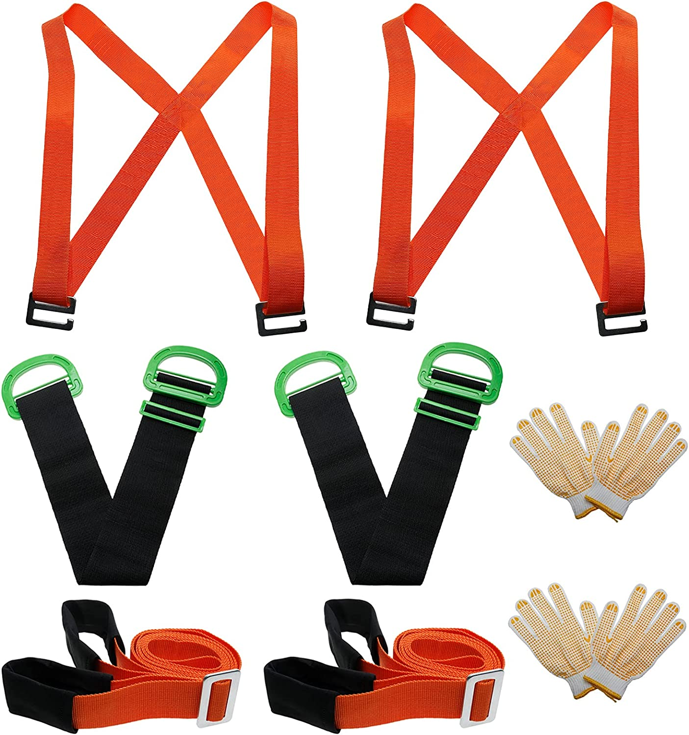 Furniture Moving Straps, 2-Person Shoulder Lifting and 2-Person Moving System for House-Moving, Furniture, Appliances, Heavy Objects Moving