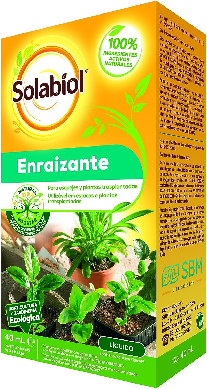 Solabiol - Enraizante líquido 100% orgánico para esquejes y plantas trasplantadas, formato 40mL