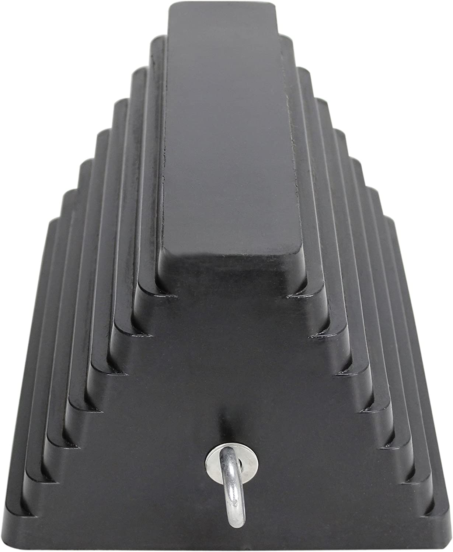 Extreme Max 5001.5775 Heavy-Duty Rubber Wheel Chock with Eyebolt