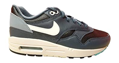 NIKE Air Max 1 (GS), Sneakers Hautes Mixte Enfant - - Black Ivory