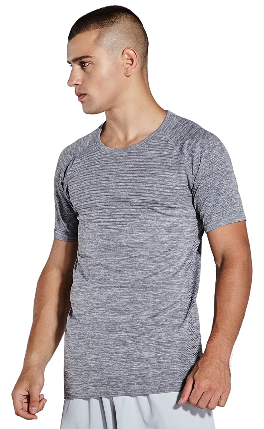 984989546 KomPrexx Mens Workout T-Shirts Extra Long Gym Tops Short Sleeve Sports Tees  Fitness Athletic Shirt Male Sportswear (Gray,S): Amazon.co.uk: Sports &  Outdoors