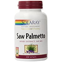 Solaray Guaranteed Potency Saw Palmetto Berry Extract, Softgel (Btl-Plastic) 160mg...