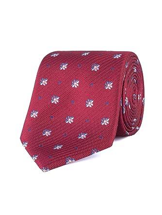 Jeff Banks London Red Geo - Corbata de flores: Amazon.es: Ropa y ...