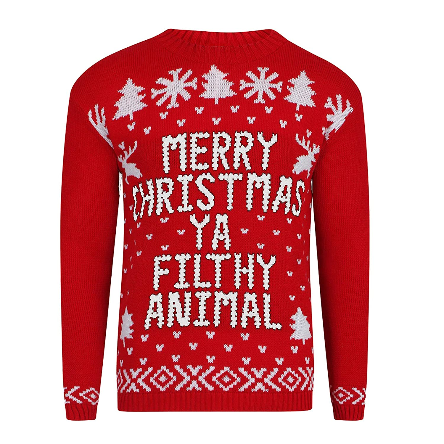 Xmas Jumper Merry Christmas Ya Filthy Animal Ladies Christmas Novelty Pullover ZF-FLTANIMAL-$P