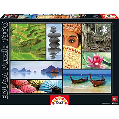 Puzzles Educa - Puzzle Colores De Asia, 1000 Piezas (16294): Juguetes y juegos