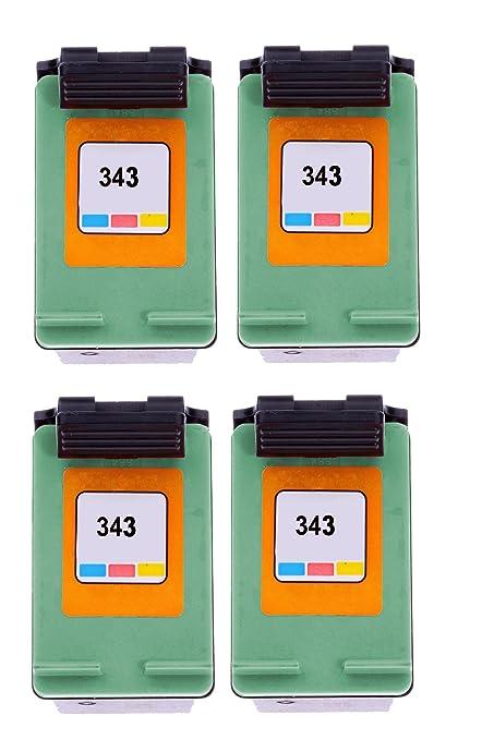 Merotoner® - 4 cartuchos de tinta para HP 343 hp deskjet 460 C ...