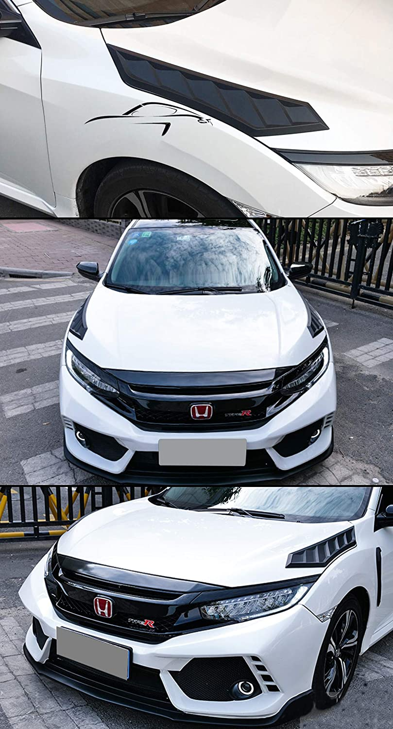 Hood Covers Cuztom Tuning Fits for 2016-2018 10TH Gen Honda Civic ...
